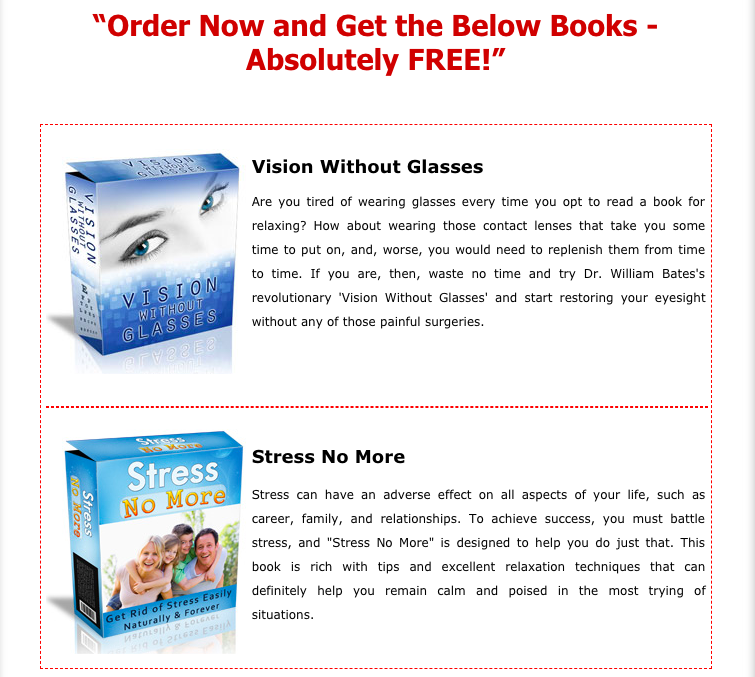 stress no more, vision without glasses
